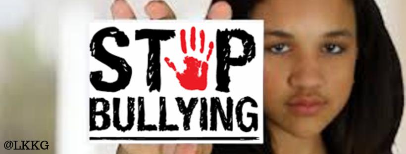 Girl saying Stop bullying